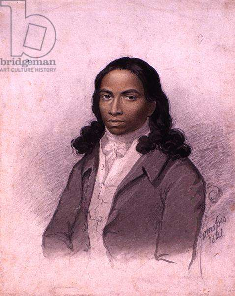 Portrait of Alexander Dherma Rama, 1821 (pencil and w/c on paper)
