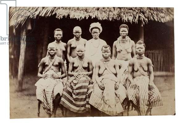 Wives of King Ja Ja, Nigeria, 1880s (albumen print)