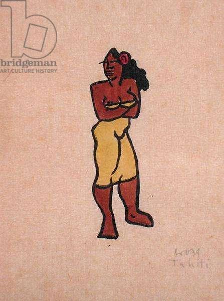 Tahitian, 1939 (woodcut)