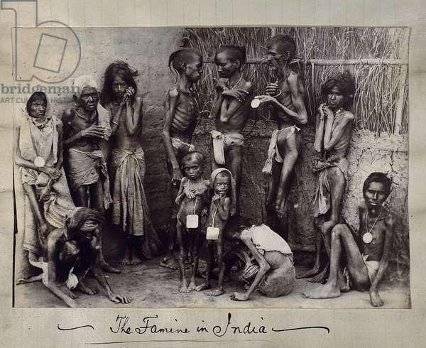 Famine patients (albumen print)