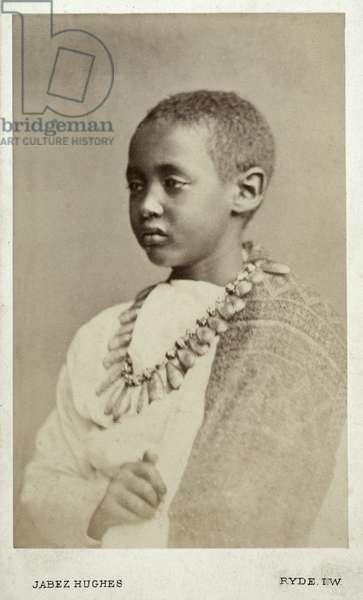 Prince Alamayu, son of Emperor Theodor II, Ryde, England, 1868 (albumen print)