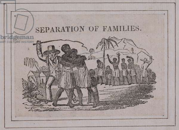 Separation of Families, c.1800 (engraving)