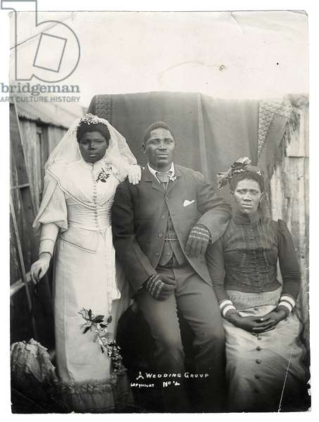 A Wedding Group, c.1890 (gelatin silver print)