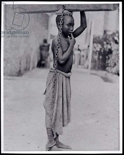 Slavery in Zanzibar, c.1890 (glass lantern slide photograph)