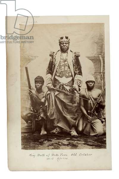 King Duke of Duke Town, Old Calabar, West Africa, c.1890 (albumen print)