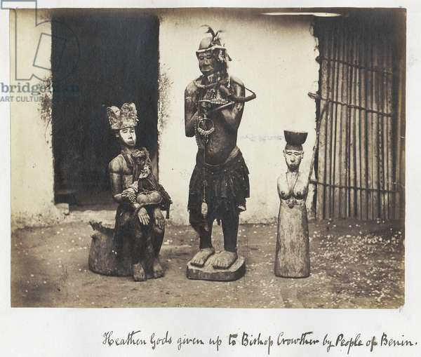 Heathen Gods given up to Bishop Crowther by People of Benin, 1870s (albumen print)
