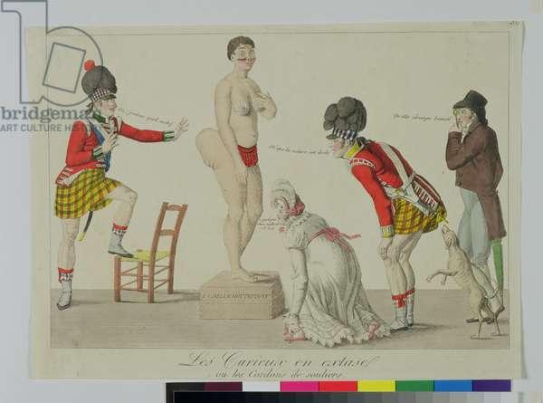 Les Curieux en extase ou les Cordons de souliers, c.1814 (handcoloured engraving)