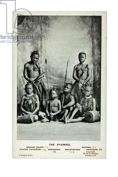 The Pygmies, London, c.1905 (litho)