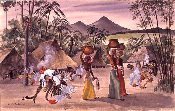 Bali, 1940 (w/c on paper)