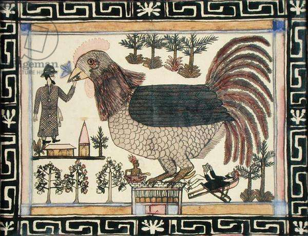 The Giant Chicken, c.1910 (pen and ink on paper)