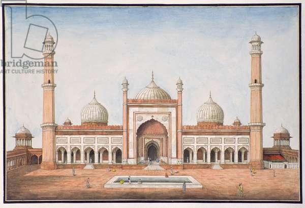 Jummah Musjeed, Delhi, c.1840 (w/c on paper)