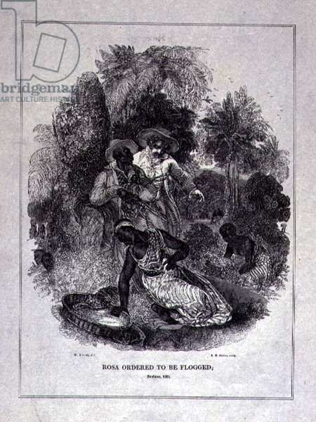 Rosa Ordered to be Flogged, engraved by S.M. Slader, London, 1828 (wood engraving)