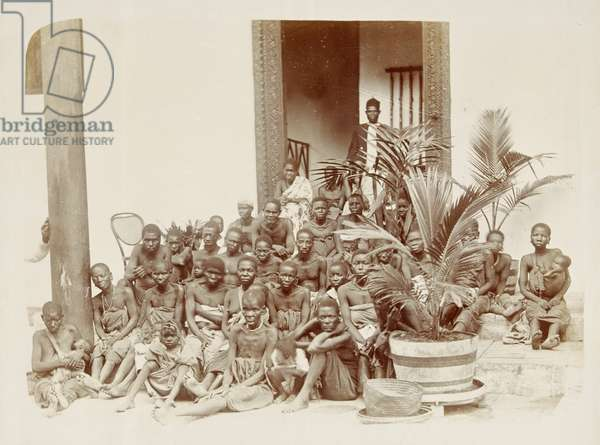 Slaves captured from a Dhow, c.1890 (silver gelatin print)