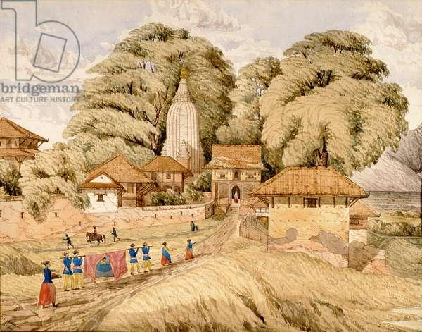Narain - Hitthee, near Kathmandoo, Nepal (w/c on paper)