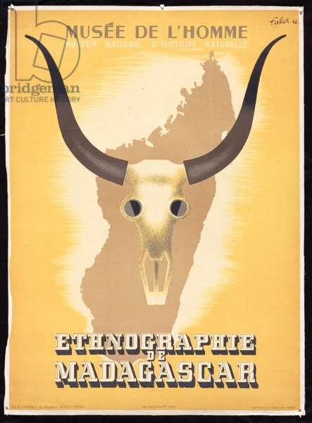 Ethnographie de Madagascar, 1946 (colour litho)