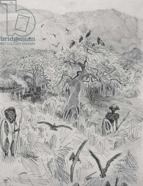 Masai Camp, c.1884 (pen on paper)