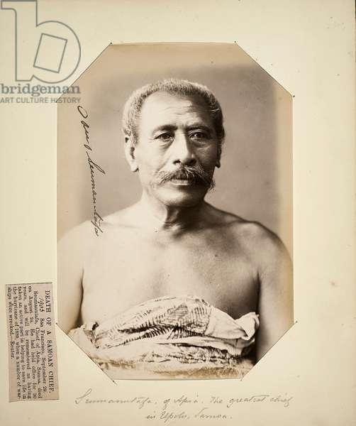 Seumanutafa, of Apia. The greatest chief in Upolu, Samoa (albumen print)