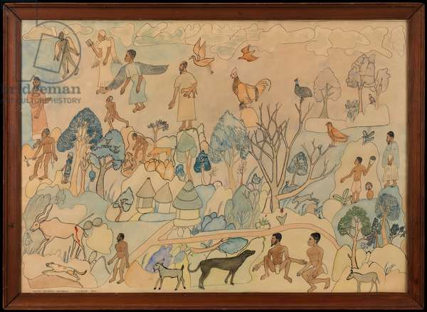 Biblical and village scenes, 1944 (w/c on paper)