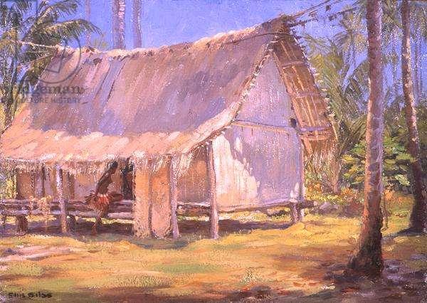 My First Studio, Trobriand Islands, 1921 (oil on board)
