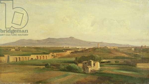 Italian Landscape (oil on canvas)