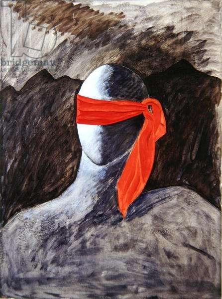 Les Gastons III, 1990 (oil on paper)