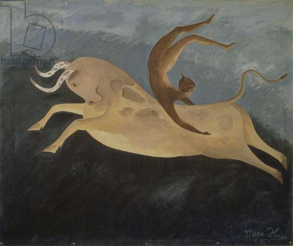 Taureau au Danseur Cretois, 1987 (acrylic on canvas)