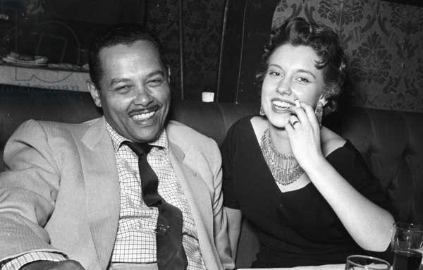 Billy Eckstine with Josie Boulton, Stork Room, London, UK, 1956 (b/w photo)