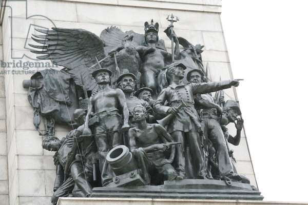 Group of sculptures, Soldiers' and Sailors' Arch, Grand Army Plaza, New York, USA (photo)