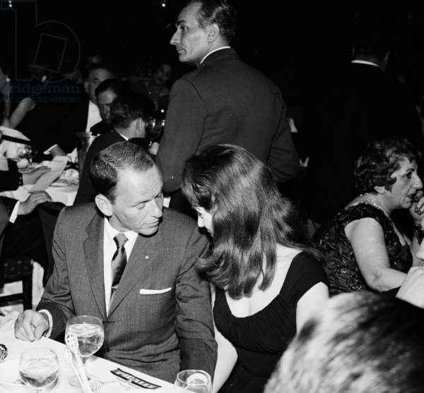 Frank Sinatra and Shirley Ann Field, Pigalle 195, London, UK, 1955 (b/w photo)