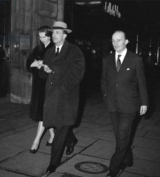 King Umberto II with Princess Maria Gabriella of Savoy, London, UK, 1958-1959 (b/w photo)