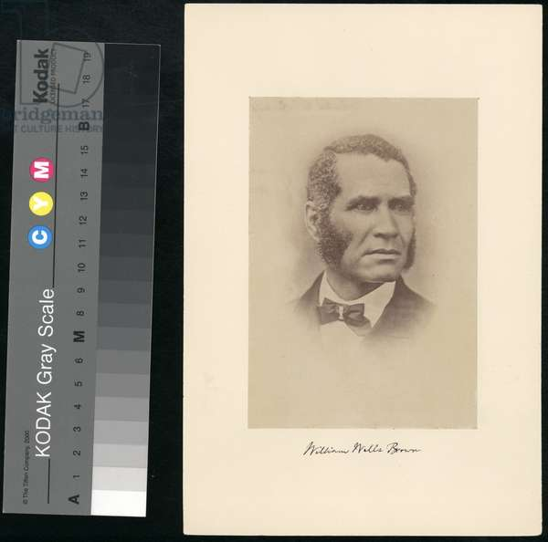 William Wells Brown, from 'Portraits of American Abolitionists' (sepia print)