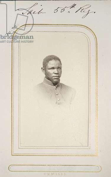 Nicholas Said, carte de visite, c.1863-66 (b/w photo)