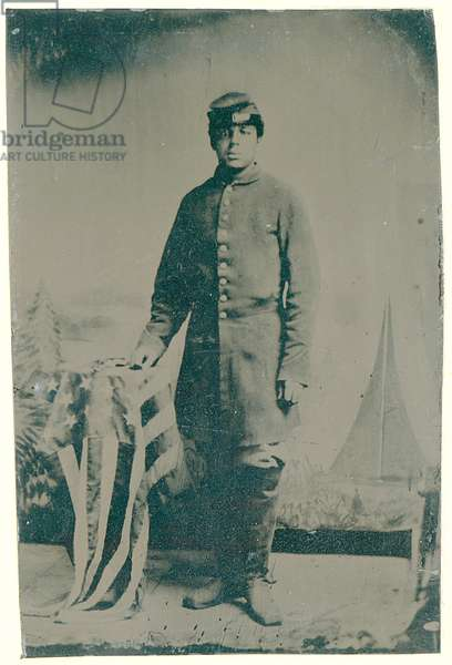 Charles H. Arnum, a Private in the 54th Massachusetts Volunteer Infantry Regiment, 1864 (tintype photo)