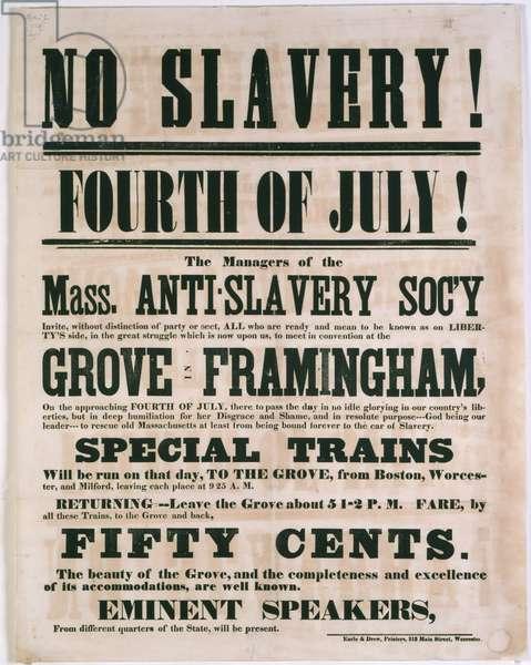 Anti-Slavery Rally in Framingham, Massachusetts, July 4, 1854 (litho)
