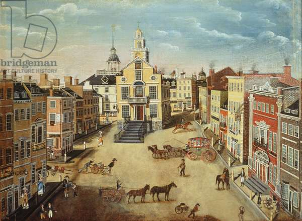 Old State House, Boston, 1801 (oil on panel)
