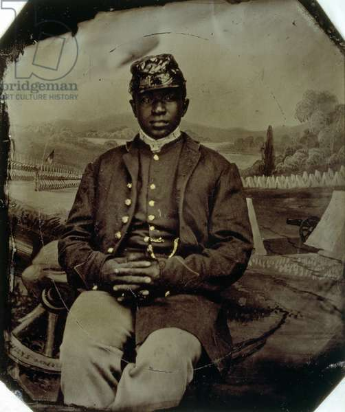 Abraham F. Brown, of the 54th Massachusetts Infantry, c.1863 (tintype)
