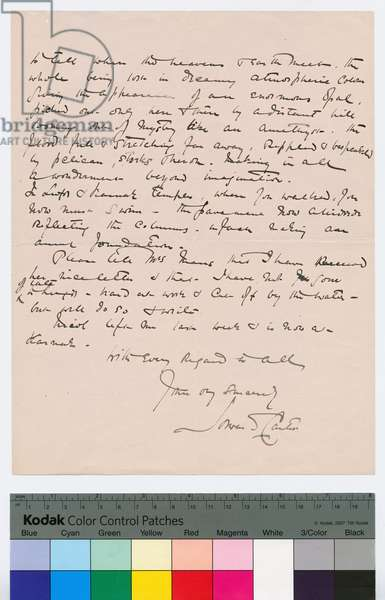 Page 2 of a letter from Howard Carter to Kingsmill Marrs, 25th October 1908 (pen & ink on paper)