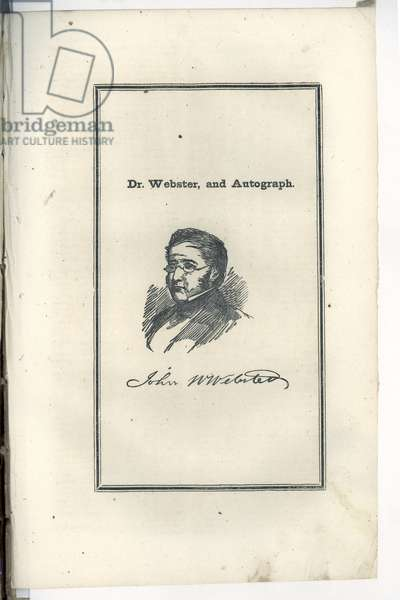 Dr. Webster, and Autograph, 1850 (litho)