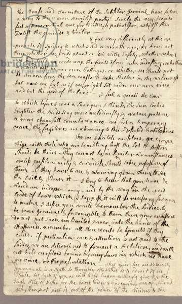 Page 2, Letter from Abigail Adams to John Adams, 31 March - 5 April 1776 (ink on paper)
