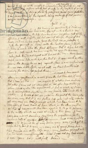 Page 3, Letter from Abigail Adams to John Adams, 31 March - 5 April 1776 (ink on paper)