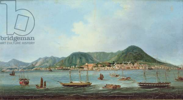 Harbour at Hong Kong, c.1830-40 (oil on canvas)