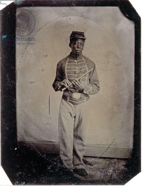 Private John Goosberry, Company E, 54th Mass. Infantry Regiment, c.1865 (tintype photo)