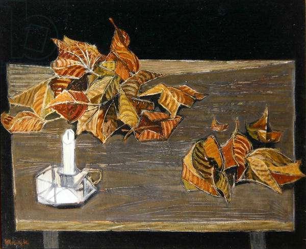 Autumn Still Life (oil on canvas)