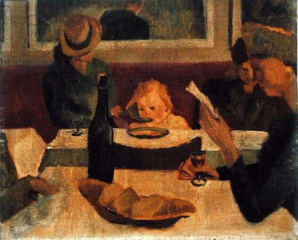 Chez Victor, Wardour Street (oil on canvas)