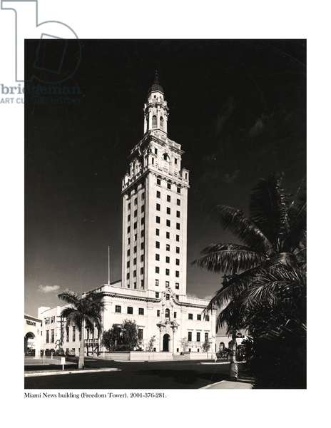 Freedom Tower, Miami (b/w photo)