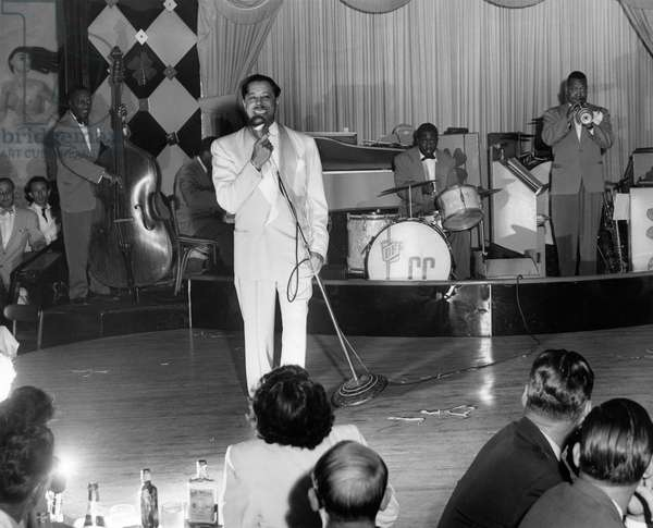 Cab Calloway performing at the Clover Club, c.1950 (b/w photo)