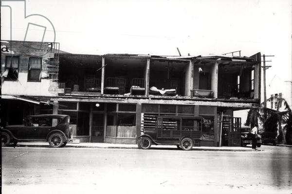 North Miami Avenue, RFC Building, after the 1926 hurricane, 1926 (b/w photo)