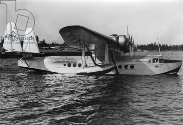 A Pan American Clipper afloat on Biscayne Bay, c.1936 (b/w photo)