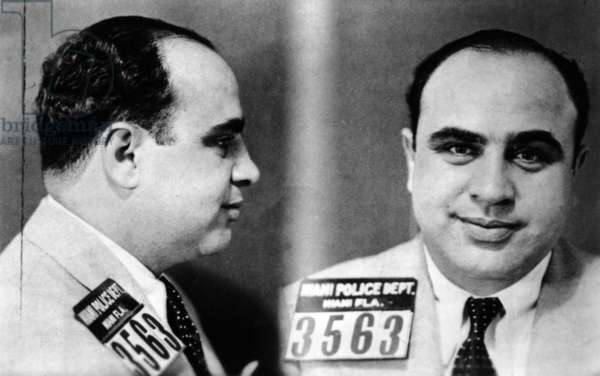 Miami Police Department mug shot of Al Capone, 1930 (b/w photo)