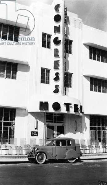 The Congress Hotel, 1936 (b/w photo)
